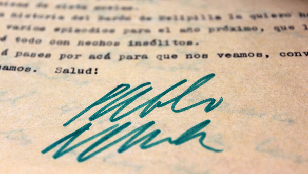 Cartas inéditas de Pablo Neruda a Hans Ehrmann.